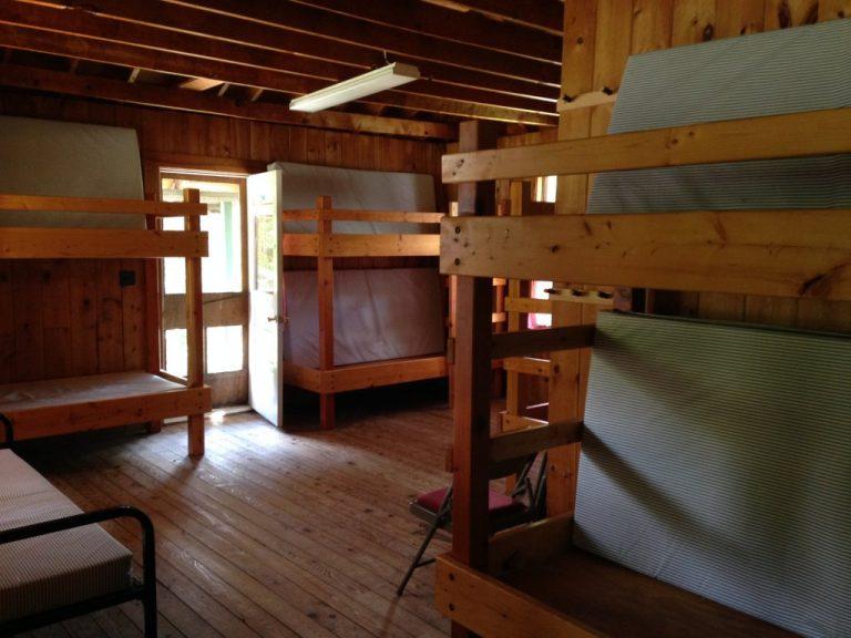 Inside a camper cabin